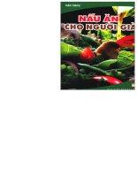 Nấu ăn cho người già part 1 pdf