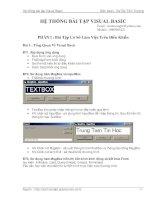 Hệ thống bài tập visual basic pptx