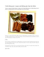 Cách dùng gia vị ngon mà không gây hại sức khỏe pptx