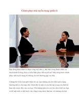Chinh phục nhà tuyển dụng (phần I) ppsx