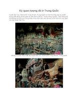 Kỳ quan tượng đá ở Trung Quốc pdf