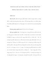 ĐÁNH GIÁ KẾT QUẢ PHẪU THUẬT NỘI SOI LỒNG NGỰC TRONG CHẨN ĐOÁN VÀ ĐIỀU TRỊ U TRUNG THẤT pps