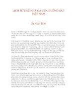 LỊCH SỬ CÁC NHÀ GA CỦA ĐƯỜNG SẮT VIỆT NAM - Ga Ninh Bình pptx