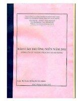 báo cáo thường niên năm 2011 công ty cổ phần vicem thạch cao xi măng