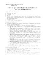 MỘT SỐ QUI ĐỊNH VỀ HÌNH THỨC TRÌNH BÀY BÁO CÁO ĐỒ ÁN MÔN HỌC docx