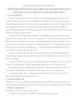 """Đề cương: """"KIỂM TRA ĐÁNH GIÁ KẾT QUẢ HỌC TẬP CỦA HỌC SINH LỚP 11 THEO CHUẨN KIẾN THỨC KỸ NĂNG MÔN HÓA HỌC"""" ppsx"""