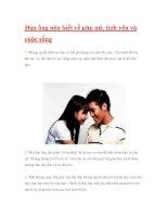 Đàn ông nên biết về phụ nữ, tình yêu và cuộc sống ppsx