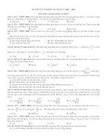 Tuyển tập đề thi môn vật lý phân loại theo dạng từ 2007 - 2010 docx