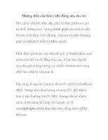 Những điều cần lưu ý khi dùng sữa cho trẻ ppt