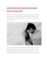 Chiến thuật thu hút phụ nữ cho người đàn ông thông minh pdf