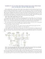 NGHIÊN CỨU XỬ LÝ NƯỚC THẢI CÔNG NGHIỆP GIẤY BẰNG CÔNG NGHỆ CHẢY NGƯỢC QUA LỚP BÙN YẾM KHÍ (UASB) pps