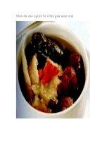 Món ăn cho người bị viêm gan mạn tính pot