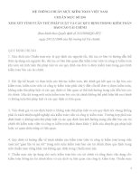 HỆ THỐNG CHUẨN MỰC KIỂM TOÁN VIỆT NAM CHUẨN MỰC SỐ 250 XEM XÉT TÍNH TUÂN THỦ PHÁP LUẬT VÀ CÁC QUY ĐỊNH TRONG KIỂM TOÁN BÁO CÁO TÀI CHÍNH pdf