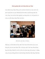 Kinh nghiệm khi xin đi làm thêm tại Nhật ppt
