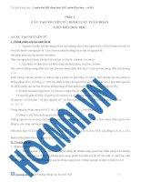 Phần 1: CẤU TẠO NGUYÊN TỬ, ĐỊNH LUẬT TUẦN HOÀN LIÊN KẾT HOÁ HỌC doc