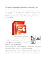 Các bước để có một slide thuyết trình bằng powerpoint chuyên nghiệp pps
