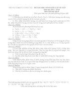 Đề và đáp án thi học sinh giỏi cấp huyện lớp 8 môn hóa học năm 2014