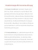 10 cách trò chuyện dễ đi vào trái tim đối tượng pot
