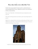 Độc đáo kiến trúc nhà thờ Núi ppt