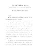 VỊ TRÍ SINH THIẾT DẠ DÀY THÍCH HỢP TRONG CHẨN ĐOÁN NHIỄM HELICOBACTER PYLORI BẰNG THỬ NGHIỆM UREASE NHANH doc