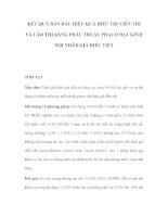 ĐIỀU TRỊ VIỄN THỊ VÀ LÃO THỊ BẰNG PHẪU THUẬT PHACO ĐẶT KÍNH NỘI NHÃN GIẢ ĐIỀU TIẾT docx