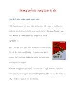 Những quy tắc trong quản lý tốt ppt