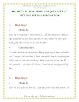 TỔ CHỨC CÁC HOẠT ĐỘNG LÀM QUEN VỚI CHỮ VIẾT CHO TRẺ MẪU GIÁO 5-6 TUỔI pps