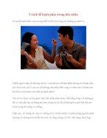5 cách để hạnh phúc trong hôn nhân docx