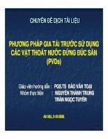 PHƯƠNG PHÁP GIA TẢI TRƯỚC SỬ DỤNG CÁC VẬT THOÁT NƯỚC ĐỨNG ĐÚC SẴN (PVDs) doc
