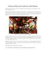 Những thắng cảnh tuyệt vời nhất Bhutan pptx