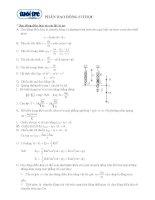 Ôn tập lý thuyết vật lý - Dao động cơ học pptx