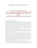 KHÁI QUÁT VỀ LỊCH SỬ NƯỚC MỸ Chương 1: Nước Mỹ thời lập quốc doc