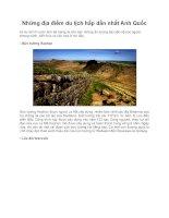 Những địa điểm du lịch hấp dẫn nhất Anh Quốc potx