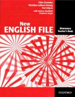 oxford''s new english file teacher''s book elemantary