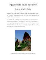 Ngắm bình minh rực rỡ ở Rock water bay ppsx