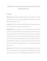 ẢNH HƯỞNG CỦA THUỐC GIẢM ĐAU BẰNG PHƯƠNG PHÁP GÂY TÊ NGOÀI MÀNG CỨNG ppsx