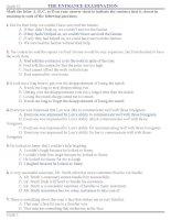 250 câu hỏi trắc nghiệm ôn thi đại học môn tiếng anh - 2 pptx