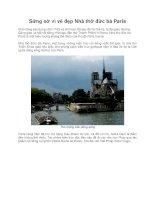Sững sờ vì vẻ đẹp Nhà thờ đức bà Paris potx