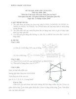 Đề thi học sinh giỏi cấp huyện Môn thi: Giải toán trên máy tính cầm tay lớp 8 pot