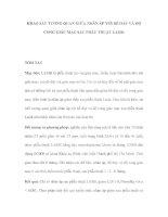 KHẢO SÁT TƯƠNG QUAN GIỮA NHÃN ÁP VỚI BỀ DÀY VÀ ĐỘ CONG GIÁC MẠC SAU PHẪU THUẬT LASIK pps