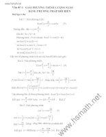 giải tóan trên máy tính -giải phương trình lượng giác bằng phương pháp đổi biến