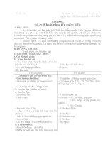 Giáo án lớp 4 năm 2011 - Tuần 25 docx