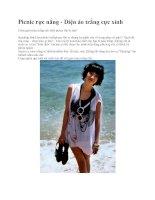 Picnic rực nắng - Diện áo trắng cực xinh pps