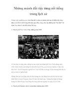 Những mảnh đất tiệc tùng nổi tiếng trong lịch sử potx