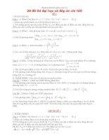 20 đề thi đại học 2011 và đáp án chi tiết pptx