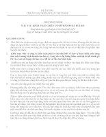 HỆ THỐNG CHUẨN MỰC KIỂM TOÁN VIỆT NAM CHUẨN MỰC SỐ 330 THỦ TỤC KIỂM TOÁN TRÊN CƠ SỞ ĐÁNH GIÁ RỦI RO pps