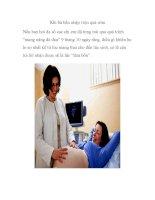 Khi bà bầu nhập viện quá sớm doc