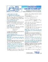 Các bài toán về tiếp tuyến trong cuốn toán học tuổi trẻ