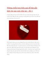 Những chiến lược hiệu quả để hàn gắn tình yêu sau cuộc chia tay – Kỳ 1 ppt