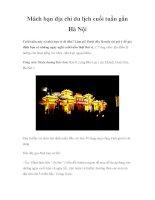 Mách bạn địa chỉ du lịch cuối tuần gần Hà Nội pptx